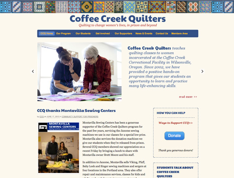 Coffee Creek Quilters website | Gray Sky Studio