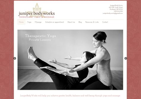 Juniper Body Works WordPress  website