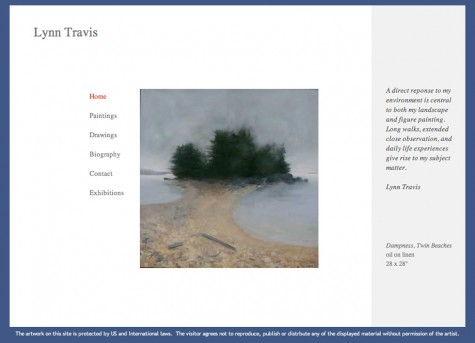 Lynn Travis, WordPress website, Gray Sky Studio