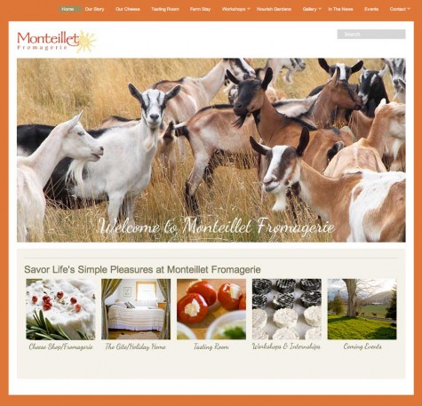 Monteillet Fromagerie, WordPress website, Gray Sky Studio