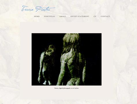 Teresa Prater Studio website | WP website by Gray Sky Studio