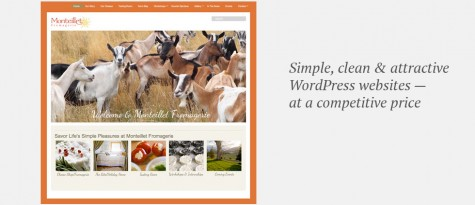 Monteillet Fromagerie website, Gray Sky Studio