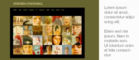 Stephen O'Donnell Artist WP website by Gray Sky Studio