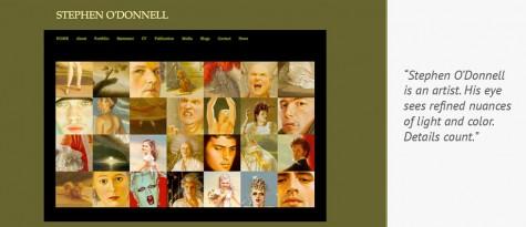 Stephen O'Donnell Artist webstie by Gray Sky Studio